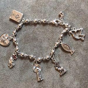 Jewelry - 🌸 Silver Religious Charm Bracelet